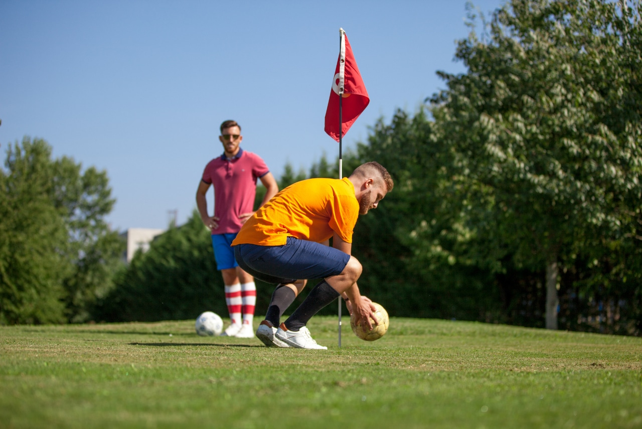 Two FootGolf Players on Golf Course